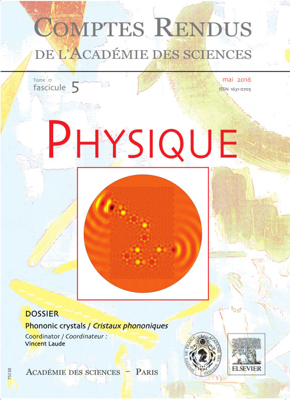 Special issue on phononic crystals
